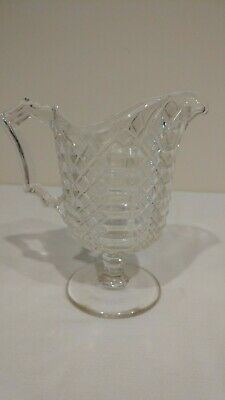 Antique 1800's Victorian Early American Pattern Glass EAPG Small Creamer Pitcher