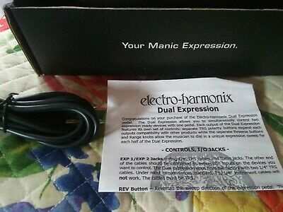 electro harmonix dual expression pedal, mint cond, $67 free USPS priority shipng