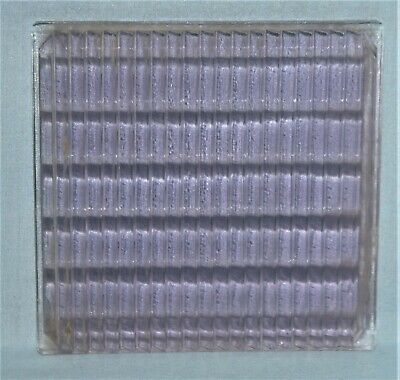 Antique Luxfer Glass Tile Architectural Salvage 4x4 Purple Tinted #2