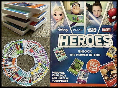Disney Heroes Cards by Sainsburys Complete Full Set with album 144 trading Cards