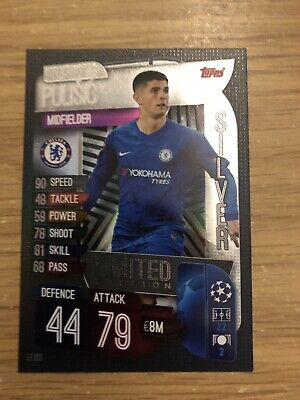Match Attax 2019/20 Christian Pulisic Silver Limited Edition Le10S Mint