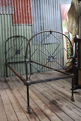 A Lovely Old Victorian Cast Iron Bed