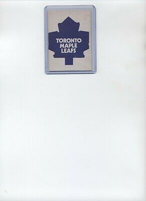 1972-73 Opc Toronto Maple Leafs Logo Card