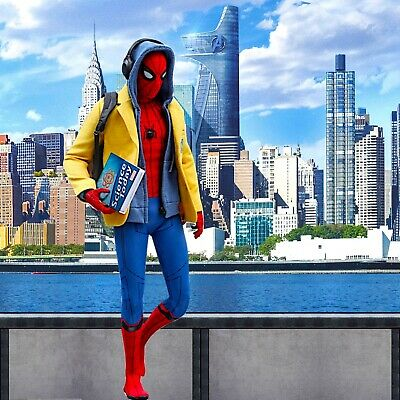 1/6 Spiderman Backdrop - Ideal For 1/6 Homecoming Spider-Man Hot Toys MMS426