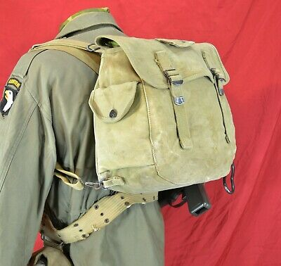 WW 2, U.S. Paratrooper M-36 Musette Bag, Rigger Modified  1943