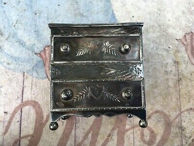 Simpson Hall Miller & Co quadruple silver plated jewelry box