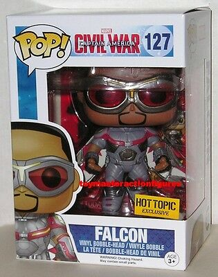 FUNKO POP Marvel CAPTAIN AMERICA CIVIL WAR FALCON #127 HOT EXCLUSIVE IN STOCK