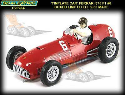 Scalextric C2928A Tin Plate Limited Edition 1951 Ferrari 375 F1 slot car