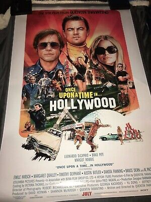 ONCE UPON A TIME IN HOLLYWOOD Movie POSTER 24x36 2019 Tarantino Pulp Fiction