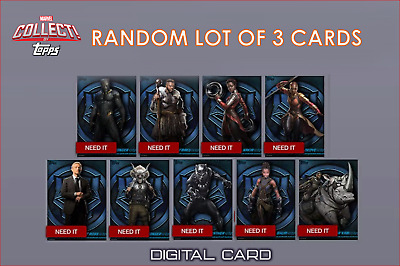 2019 BLACK PANTHER BOX CHARACTER ART RANDOM LOT OF 3 CARD Marvel Collect Digital