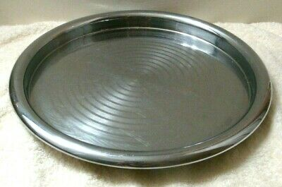 "CHASE Brass & Copper Co. Chrome Art Deco 12"" Round Ring Tray Vintage"