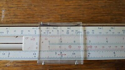 "Vintage Faber Castell No.1/22 10"" Business Precision Slide Rule Stein Germany"