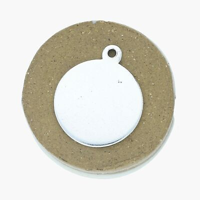 tiffany & co / sterling silver vintage makers round engravable tag / charm (3g)