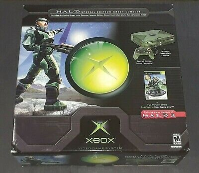 *NEW*  HALO Limited Edition (Green) ORIGINAL XBOX Console [MICROSOFT XBOX, 2004]