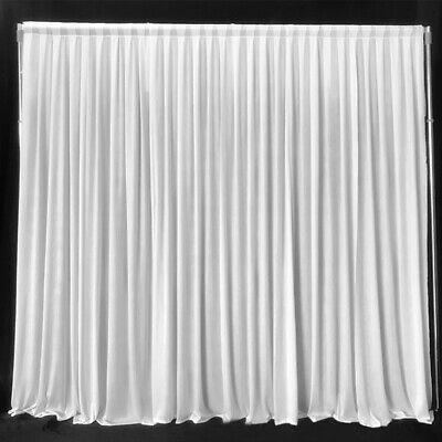 White Wedding Party Backdrop Curtain Background Decor events Draping curtain