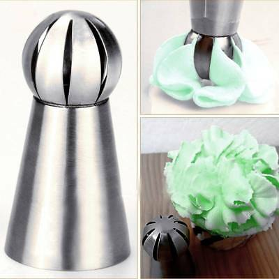 Sphere Ball Shape Stainless Steel Icing Piping Nozzles Pastry Tips Baking Tool c