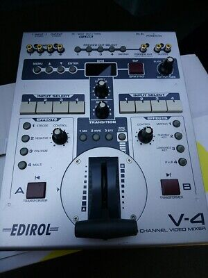 Used V-4 Roland EDIROL 4-Channel Video Mixer Switcher Effects Only A Main Part O