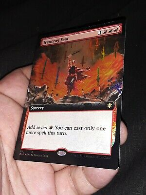 Irencrag Feat FOIL EXTENDED ART Throne Of Eldraine MTG Magic The Gathering