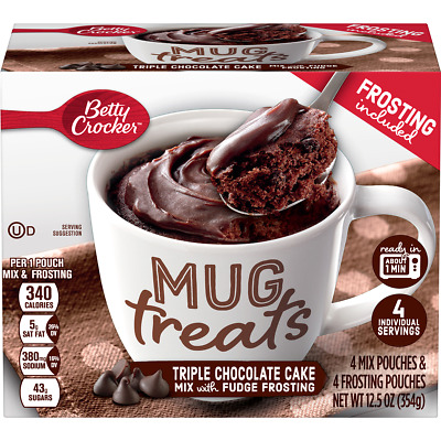 Betty Crocker Mug Treats Triple Chocolate Cake, 12.5 oz