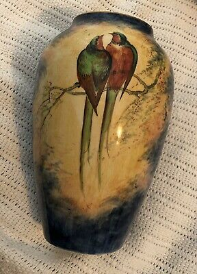 Royal Winton Grimwades Stoke On Trent Birds Vase England 2 Birds Rare Antique