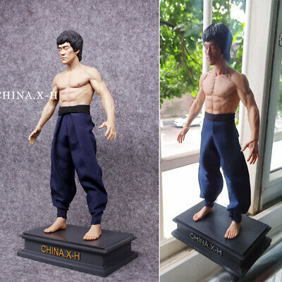 CHINA. X - H 1/6 Bruce Lee Action Figure Statue Limited Two Heads Model IN STOCK