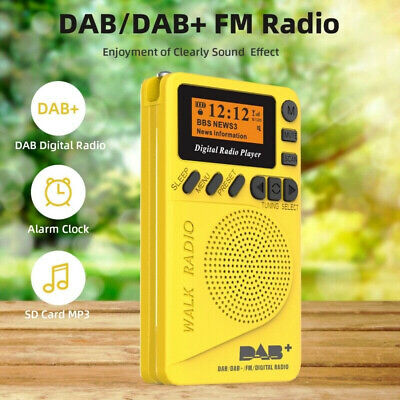 Mini Portable Pocket Digital LCD DAB + FM Radio W/ Earphone Stereo Receiver