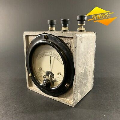 Vintage 1941 Ww2 Detonator Gauge Cast Alloy Block Paton Elec K35 Gauge Military