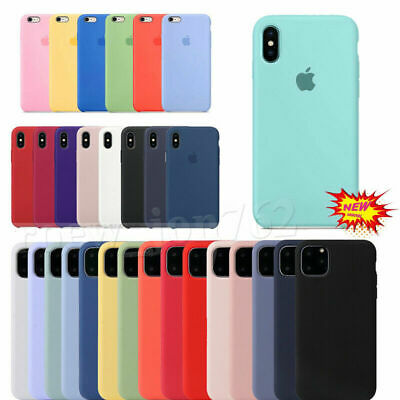 Original Official Silicone Case For iPhone 6s 7 8 XR XS 11 Pro Max Genuine Cover