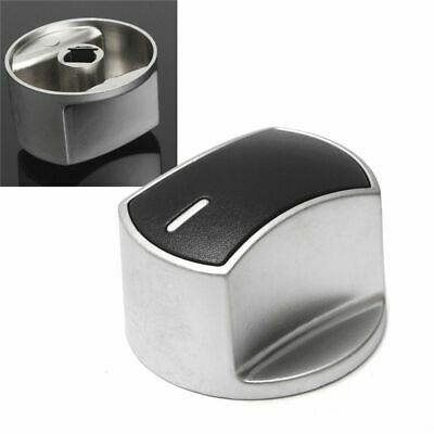 Gas Stove Knobs Metal Silver Universal Cooker Oven Kitchen Switch Control Button