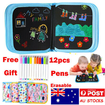 Kids Magic Doodle Book Drawing Book Painting Graffiti Board Erasable Pamphlet AU