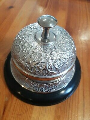 Silver Hotel Service Bell Reception Desk Counter Ring designer ornate luxury