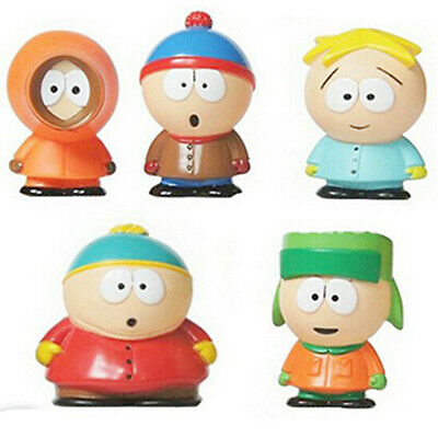 South Park Stan Kyle Eric Kenny Leopard 5 PCS Action Figures Cake Toper Gift Toy