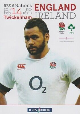 ENGLAND v IRELAND 6 NATIONS RUGBY MINT PROGRAMME 14th FEBRUARY 2014