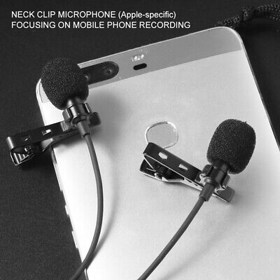 Professional Grade Lavalier Lapel Microphone Mic For iPhone X XS XR 11 Pro 8 7