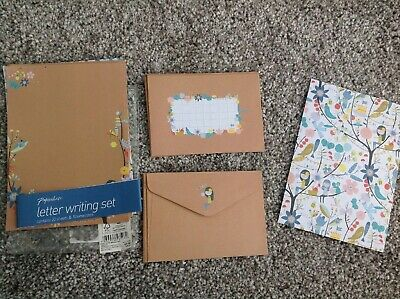 PAPERCHASE Letter Writing Set 19 Paper Sheet & 9 Envelopes Insects Nature Flower
