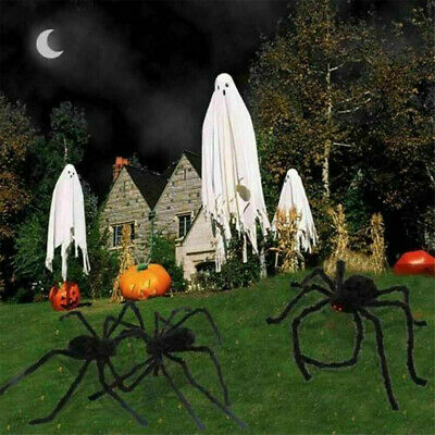 150cm Hairy Giant Spider Decoration Halloween Prop Haunted House Decor Party US
