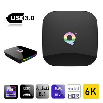 SMART TV BOX Q Plus ANDROID 9.0 PIE 4GB RAM 32GB 6K IPTV WIFI DAZN