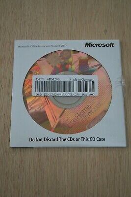 MICROSOFT OFFICE HOME AND STUDENT 2007  for PC - CD, COA and product key