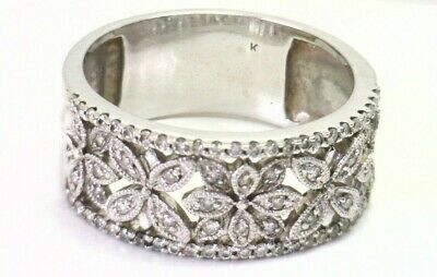 Awesome 14K White Gold .50ctTW Diamond Band Wedding or Other 9.1 grams NR #Y32