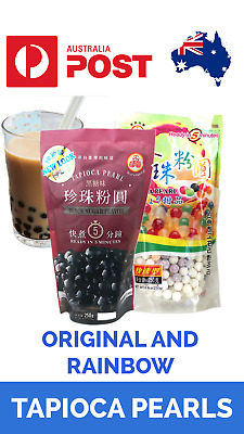TAPIOCA PEARLS BLACK & RAINBOW Bubble, Boba, Milk Tea WuFuYuan 250g AU Stock