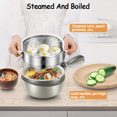 Stainless Steel Electric Wok Skillet Frying Pan Small Multi-function Steamer