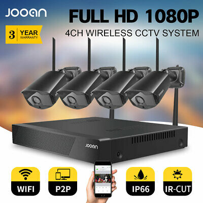 HD 1080P 8CH Wireless CCTV Security Camera System WiFi NVR Outdoor Night Vision