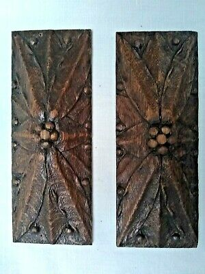 Stunning Pair Of Antique French Carved Oak Embellishments   C1900