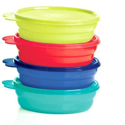 Tupperware 4 Pc. Microwave Reheatable Cereal Bowls - Brand New!!