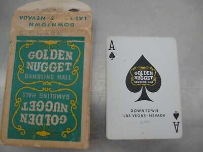 Vintage Golden Nugget Green Deck Las Vegas Casino Playing Cards Downtown