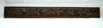 An Exquisite Antique French Hand Carved Oak Panel / Frieze - C1900