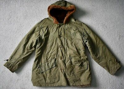 WWII WW2 US Army Air Forces Alpaca Lined B-11 Parka Jacket Vtg 40s Military 38