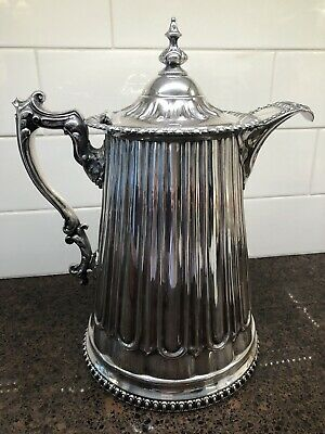 LARGE SILVERPLATE PITCHER W/ LID (heavy)