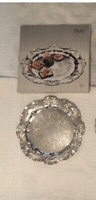 Towle Old Master Vintage Silverplate 15 Inch Tray With Box EUC