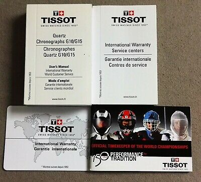 Tissot Vintage Kit papers booklets and warranty card blank